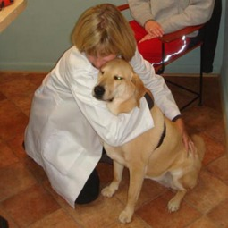 Dr. Joan with patient