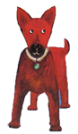 Red dog art width=